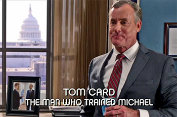 Photo of Burn Notice character Agent Tom Card played by John C. McGinley