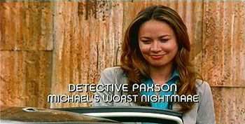 Photo of Burn Notice character Detective Paxson played by Moon bloodgood
