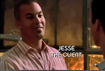 Photo of Coby Bell playing Burn Notice TV character Jesse Porter